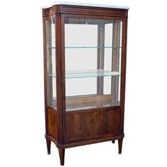 Louis XVI Style Vitrine with Marble Top