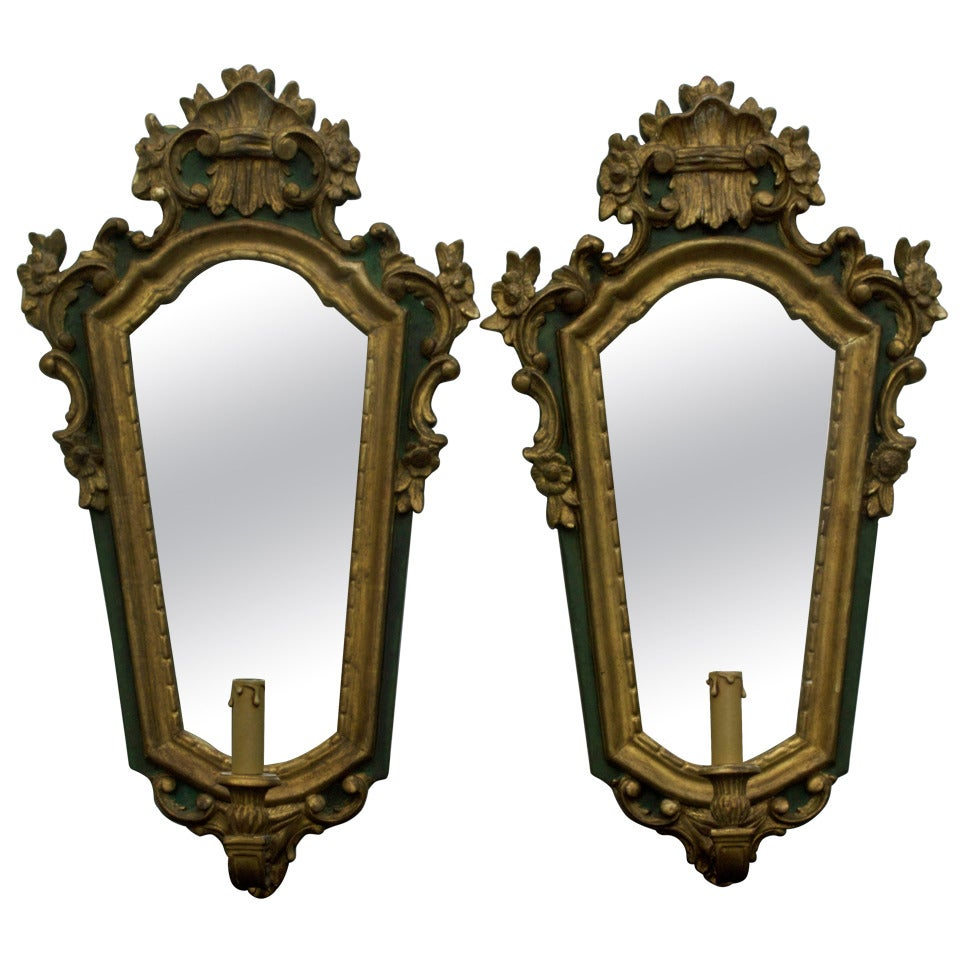 Pair of Giltwood Wall Light/ Sconce