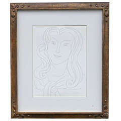 Etching by Henri Matisse