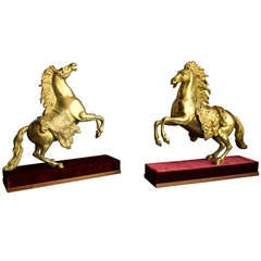 French Pair of Gilt Bronze Bookends