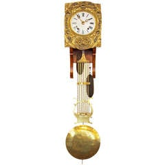 Comtoise Clock Work with Lyre Pendulum