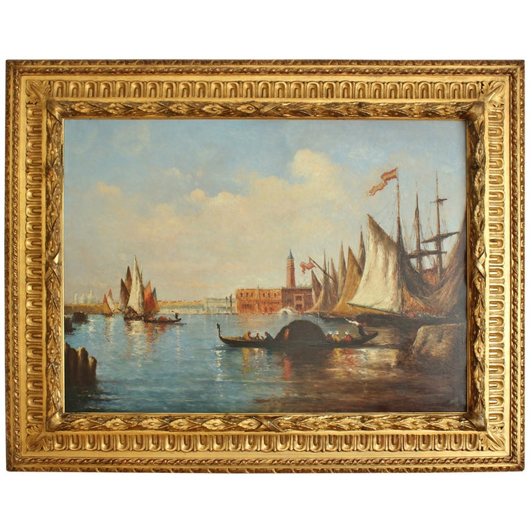 """19th Century Painting """"Venice View,"""" School of Ziem For Sale"""