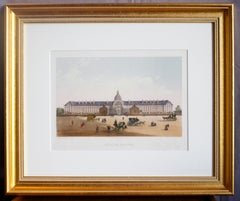 """Etched Engraving of """"Hotel des Invalides"""" in Paris"""