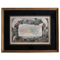 "Antique engraving of ""Algeria"" by Raimond Bonheur"