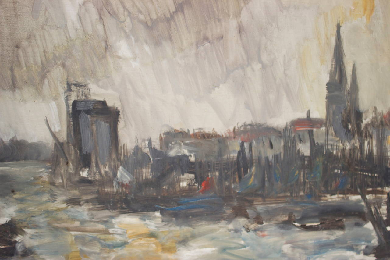 Mid-20th Century French Oil Painting