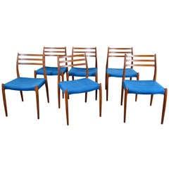 Set of Six Dining Chairs Niels Moller for J. L. Moller Møbelfabrik