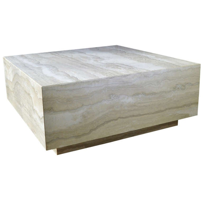 Travertine Marble Cocktail Table At 1stdibs