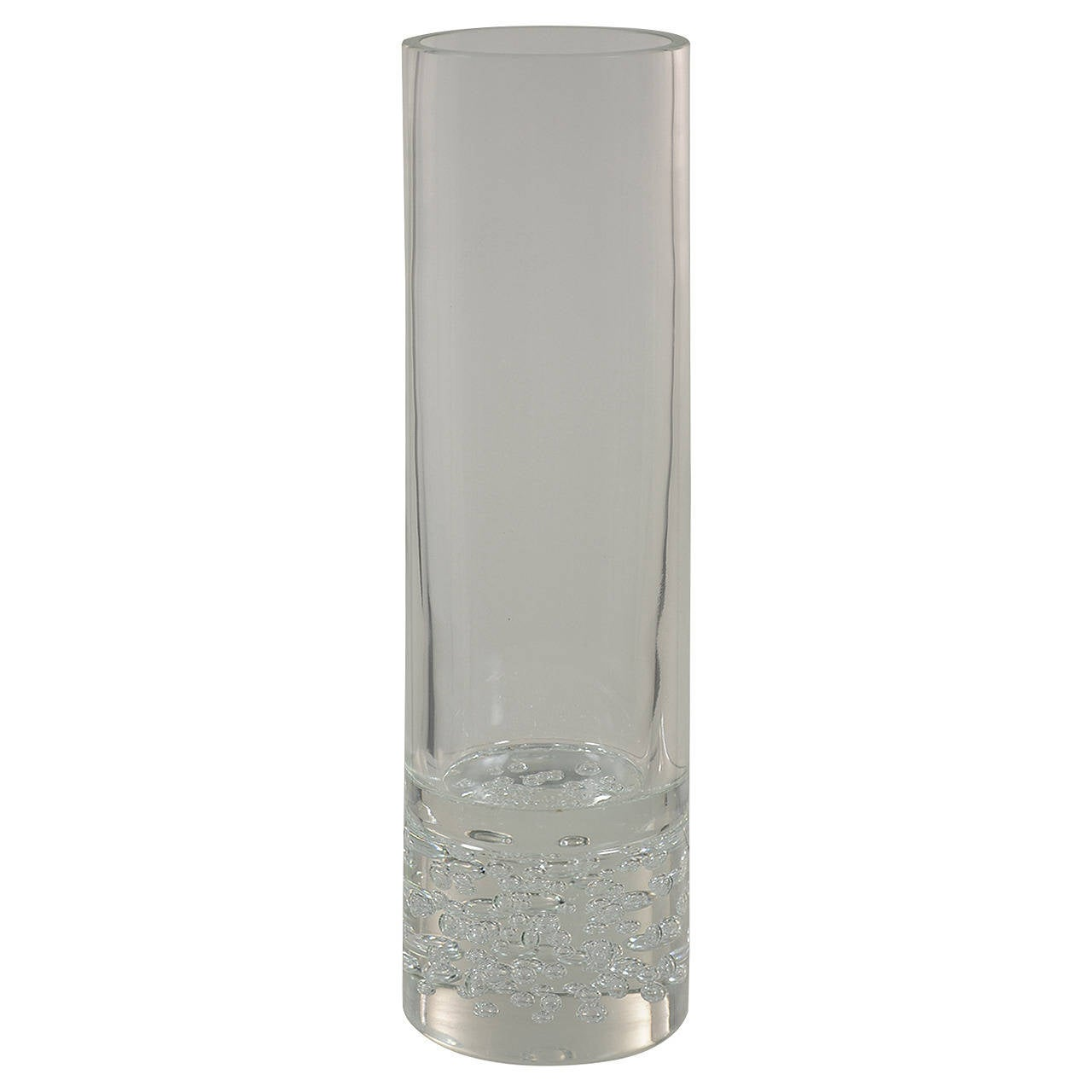 Large Clear Vase Designed by Livio Seguso, Produced by Seguso A.V
