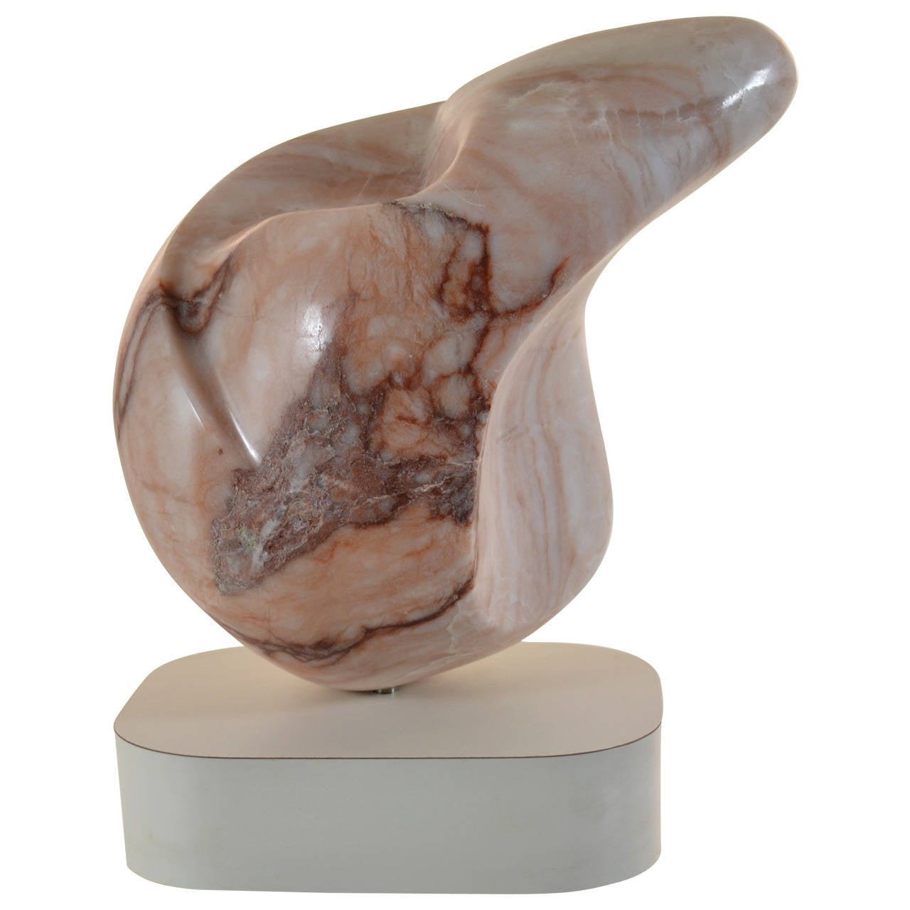 Abstract Marble Sculpture on Custom Base