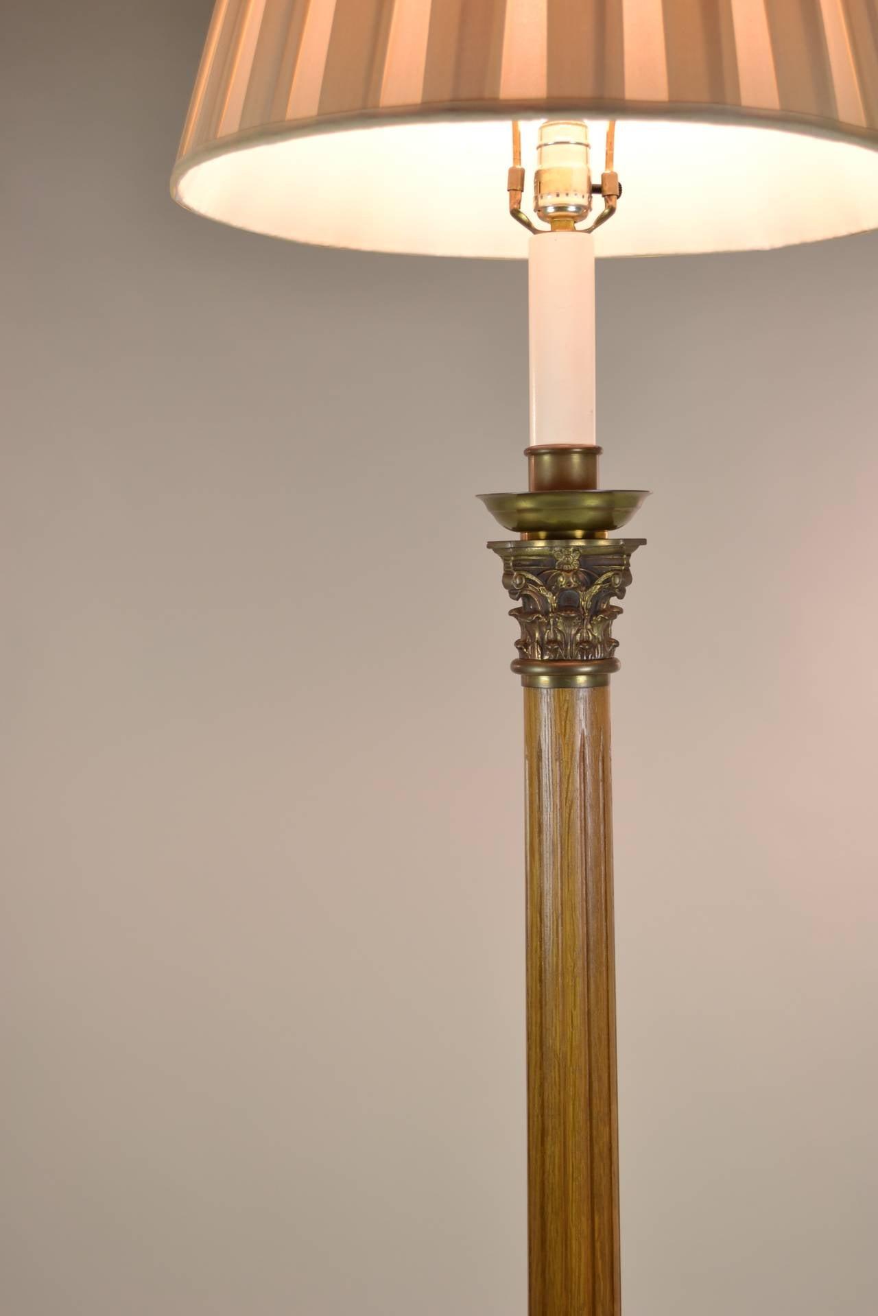 Pair of column floor lamps with corinthian capitals at 1stdibs for Floor pillars