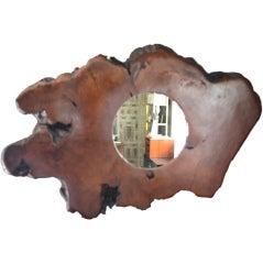Organic Form Wood Mirror