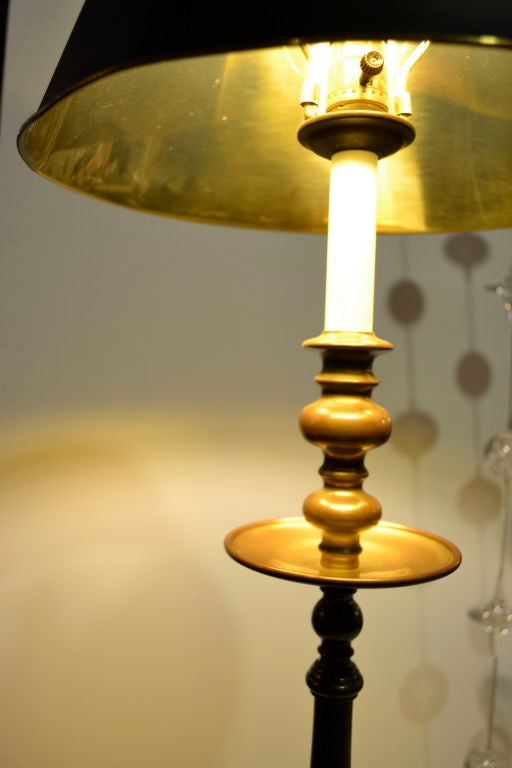Pair Of Maitland Smith Tall Candlestick Lamps At 1stdibs