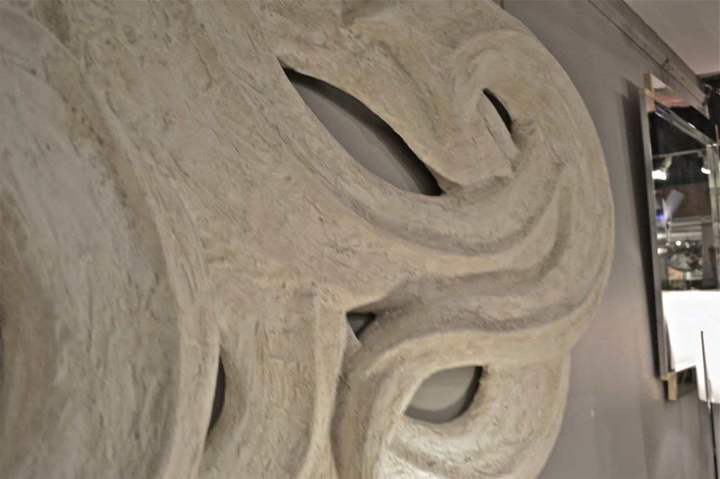 Large Plaster Wall Sculpture at 1stdibs