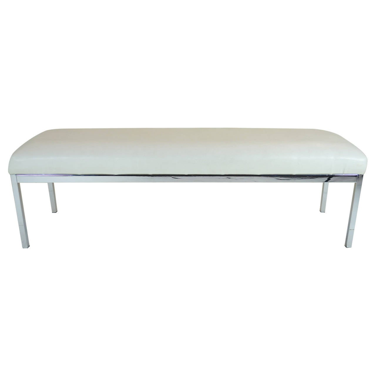 Chrome Long Bench At 1stdibs