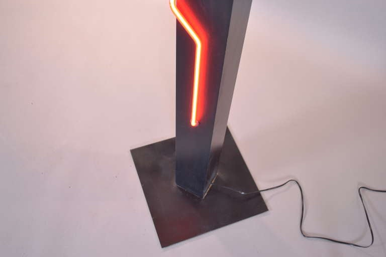 Neon Floor Lamp By Rudi Stern And Don Chelsea For George Kovacs At 1stdibs