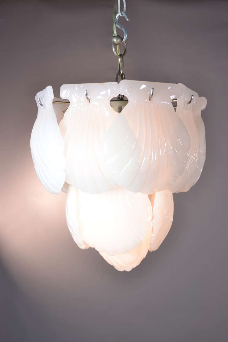 Murano Shell Chandelier For Sale At 1stdibs