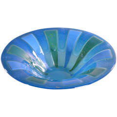 Large Fused Glass Bowl by Higgins
