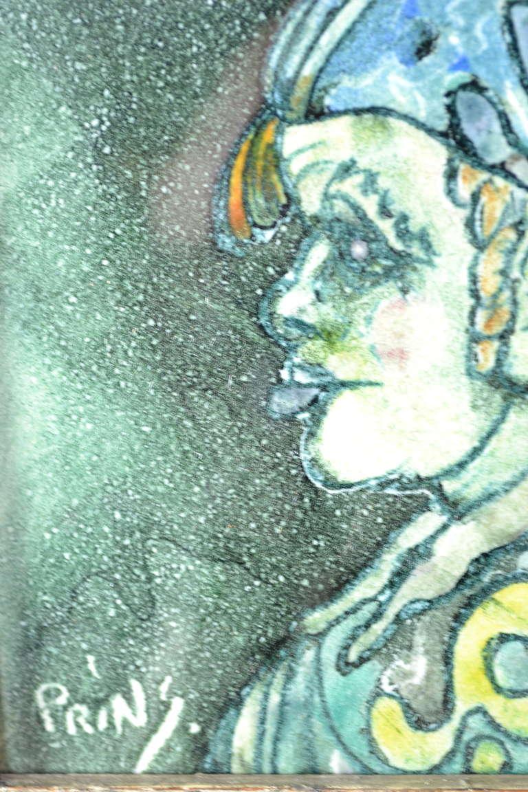 Framed J Warner Prins Tiles At 1stdibs