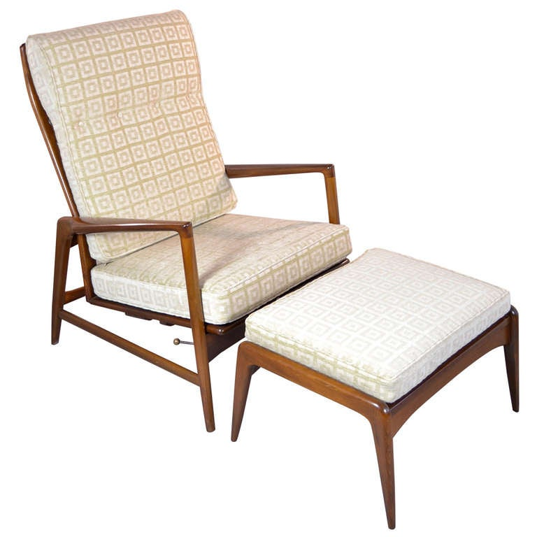 Selig Chair and Ottoman at 1stdibs