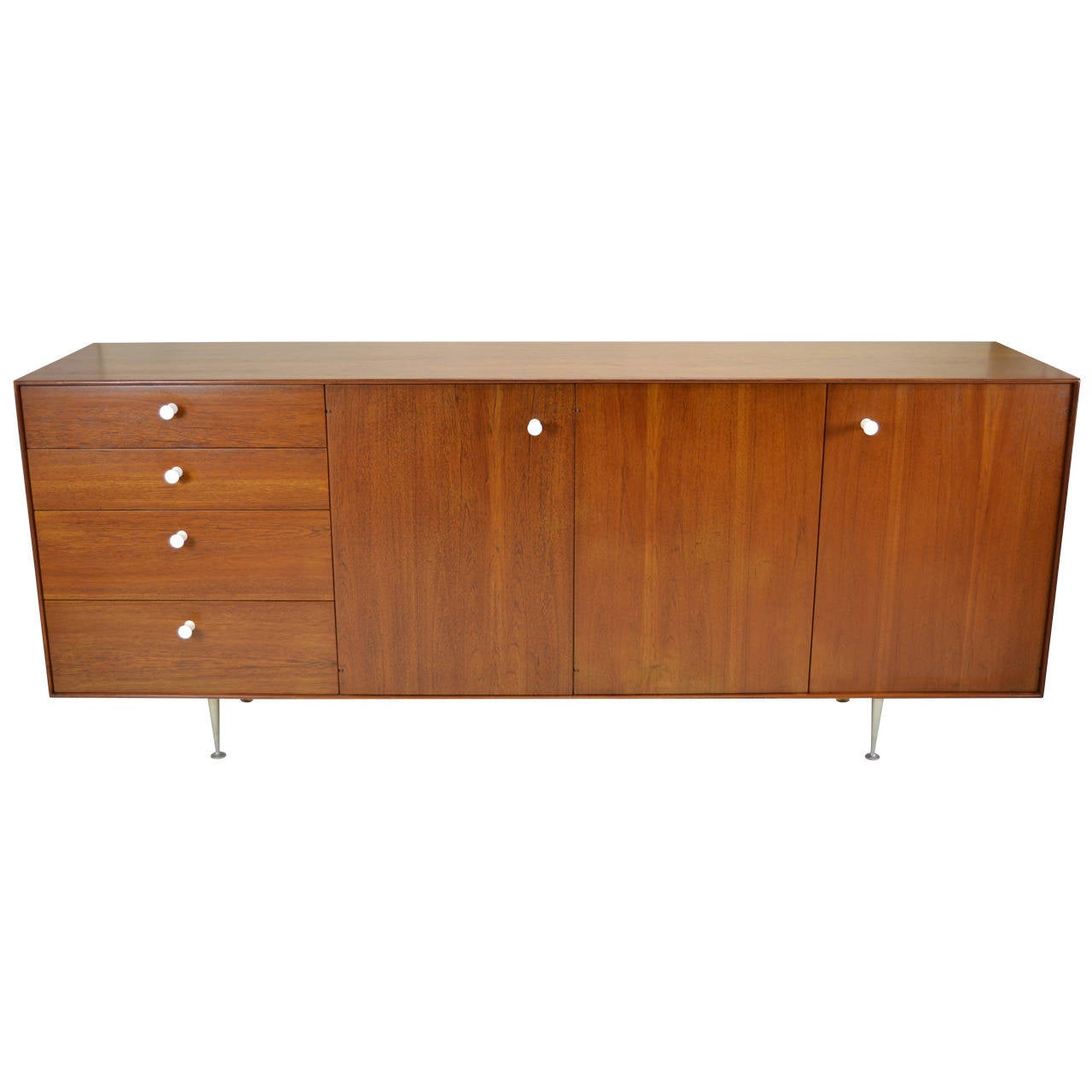 George nelson thin edge sideboard for herman miller circa for Sideboard glasfront