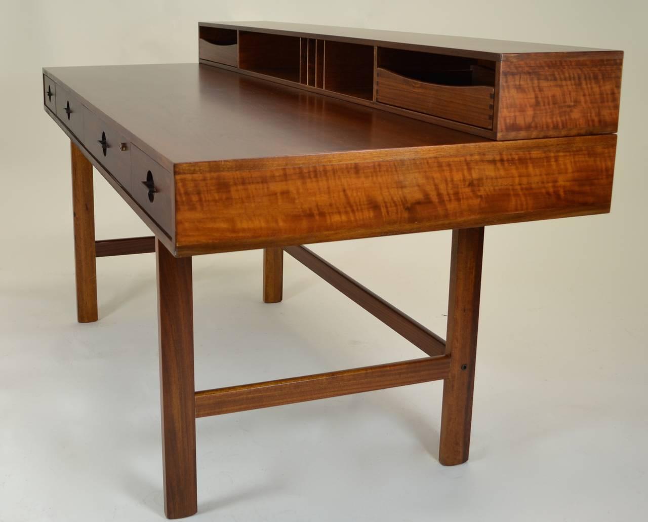 Scandinavian Modern Peter Lovig Nielsen Flip Top Partners Desk Circa 1960s For