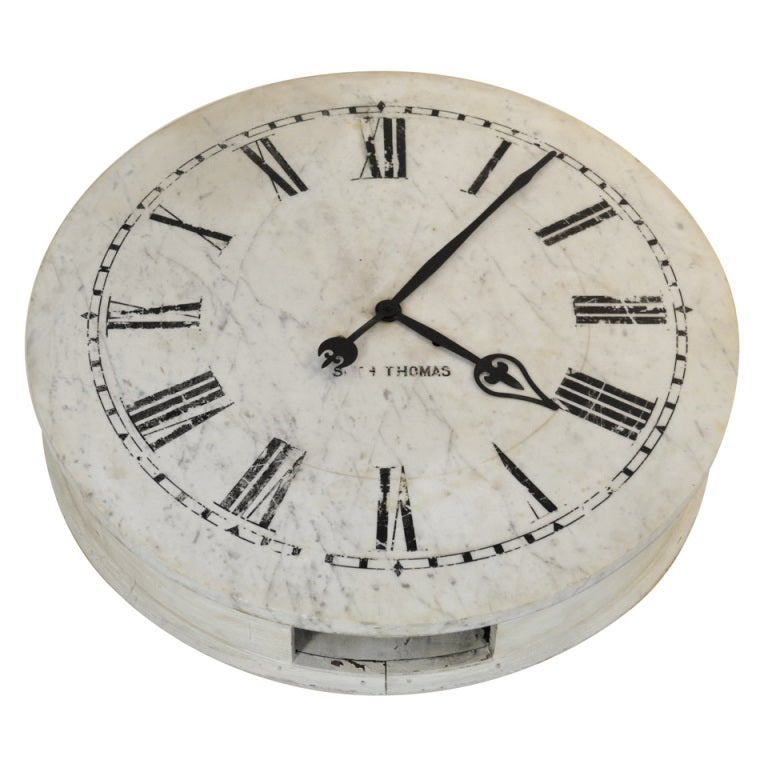 Large Marble Clock Face By Seth Thomas At 1stdibs