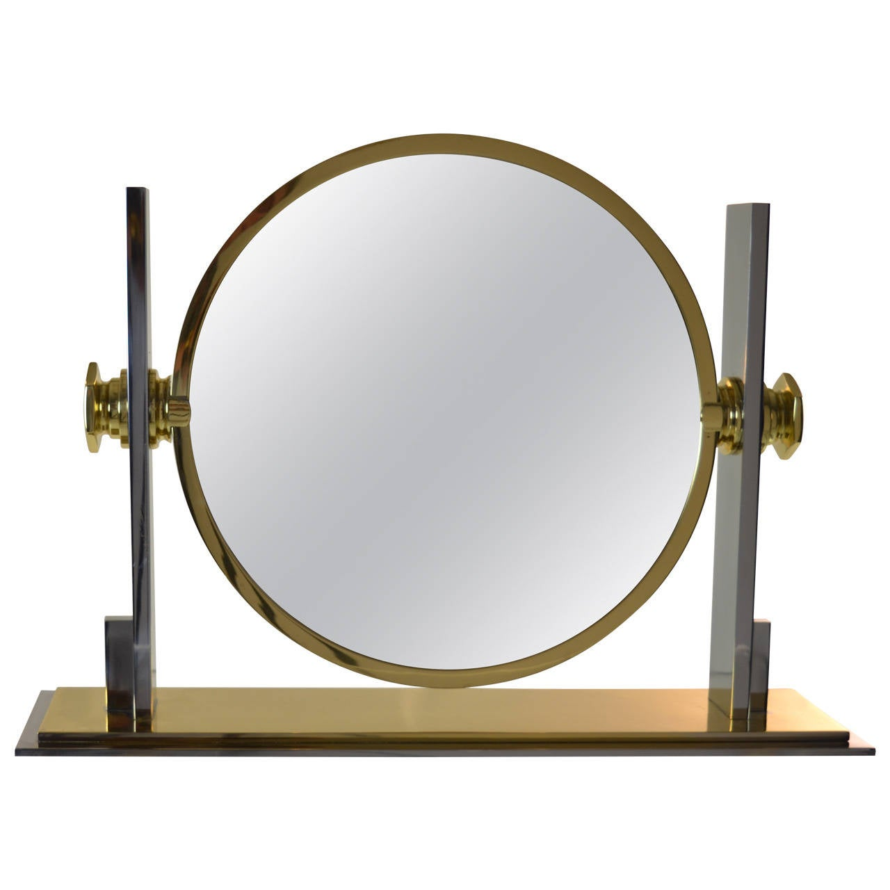 karl springer large vanity mirror at 1stdibs