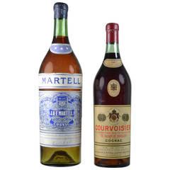Vintage Store Display Cognac Bottles