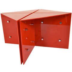 """1960s """"Folded"""" Acrylic Table"""