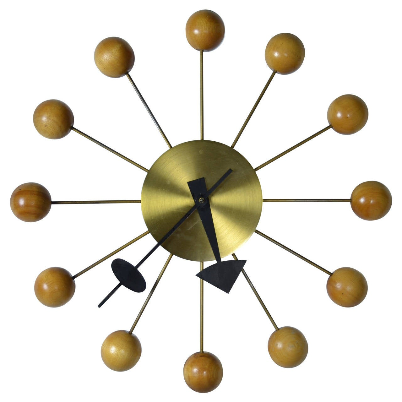 George nelson ball clock for howard miller at 1stdibs for Nelson wall clock