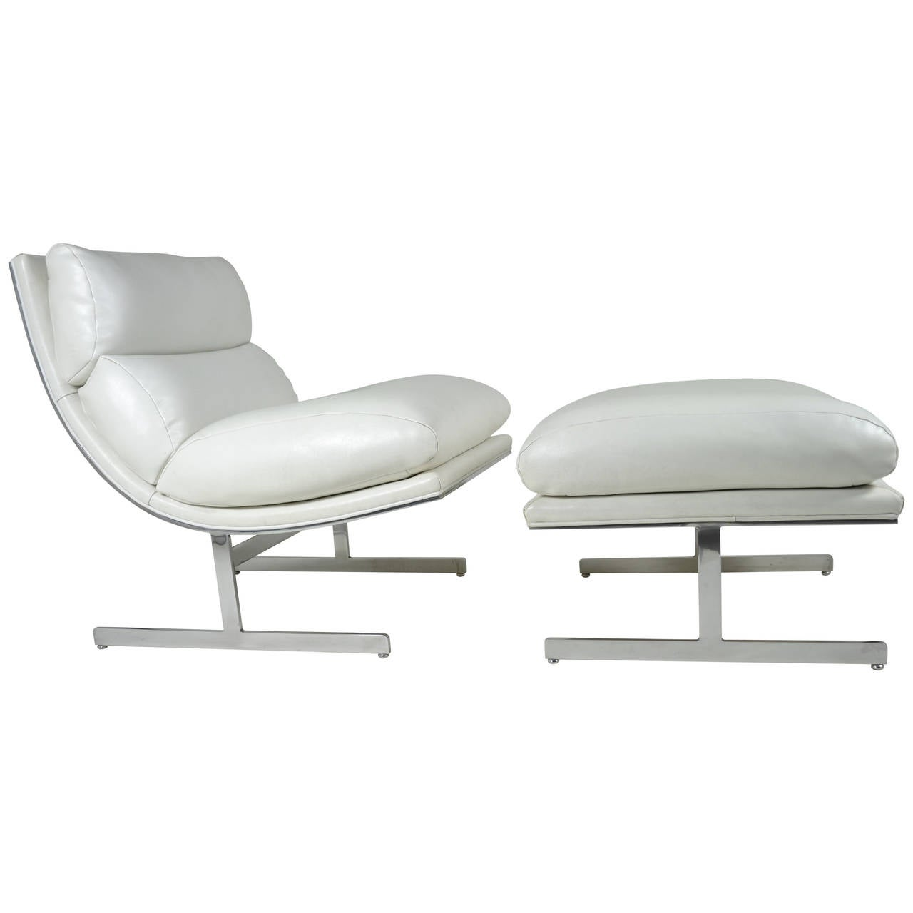 Modern Lounge Chair And Ottoman By Kipp Stewart For