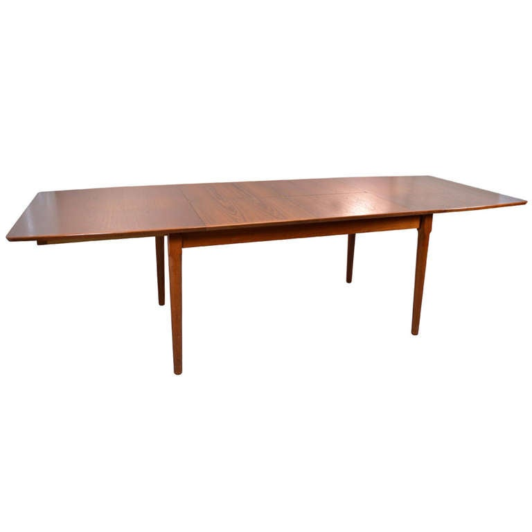 Danish Modern DIning Table with 2 Leaves at 1stdibs : 873249l from www.1stdibs.com size 768 x 768 jpeg 14kB