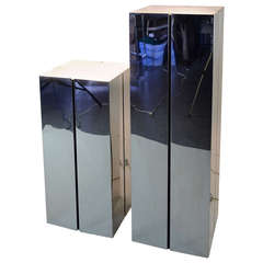 Neal Small-Lighted Chrome Pedestals