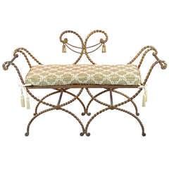Gilded Italian Iron Bench