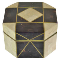 Tessellated Horn and Marble Box