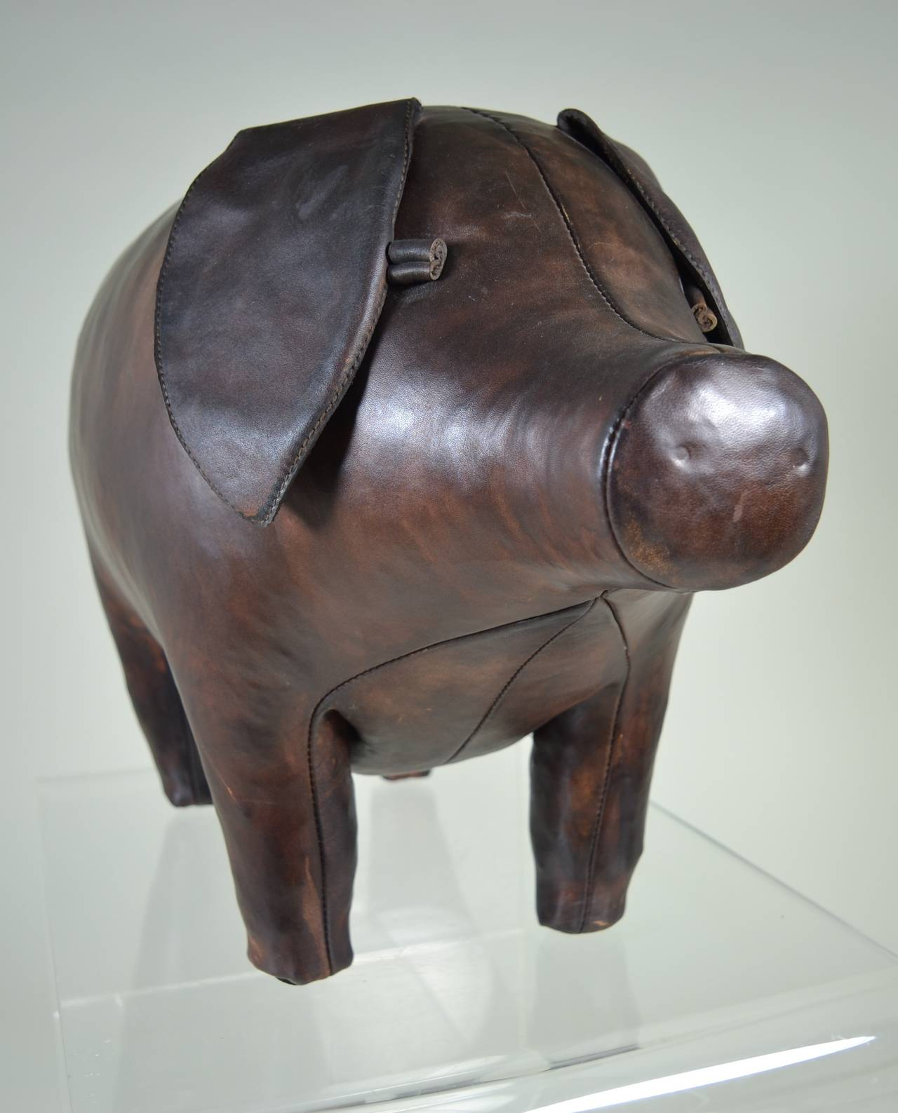 Leather Pig Stool Made By Omersa And Company For
