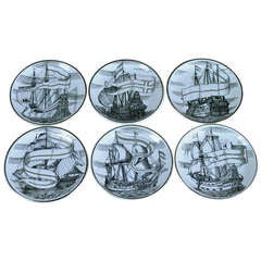 Fornasetti Ship Design Coasters - Set of Six