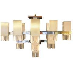 Gaetano Sciolari Cubic Chandelier with Seventeen Lights