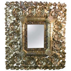 Large Mexican Tin-art Mirror
