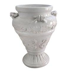 Large Italian Glazed Ceramic Urn