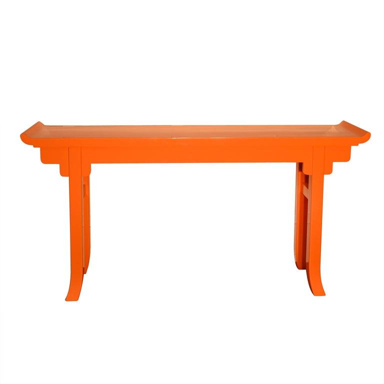 u0026quot hermes orange u0026quot  lacquered console at 1stdibs