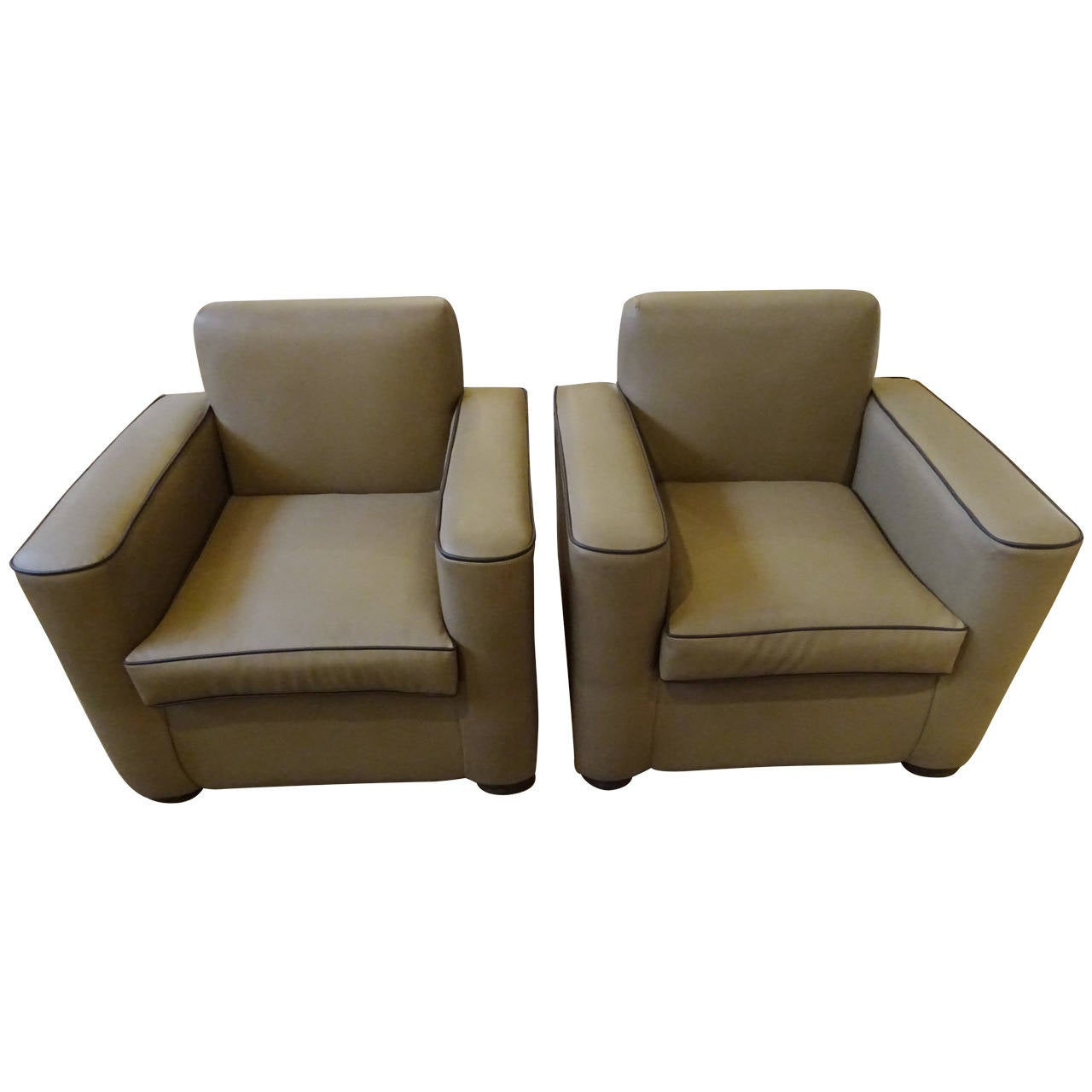 Art Deco Style Club Chairs At 1stdibs