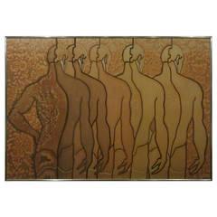 Batik by Gilles Patrick, Male Nudes Print