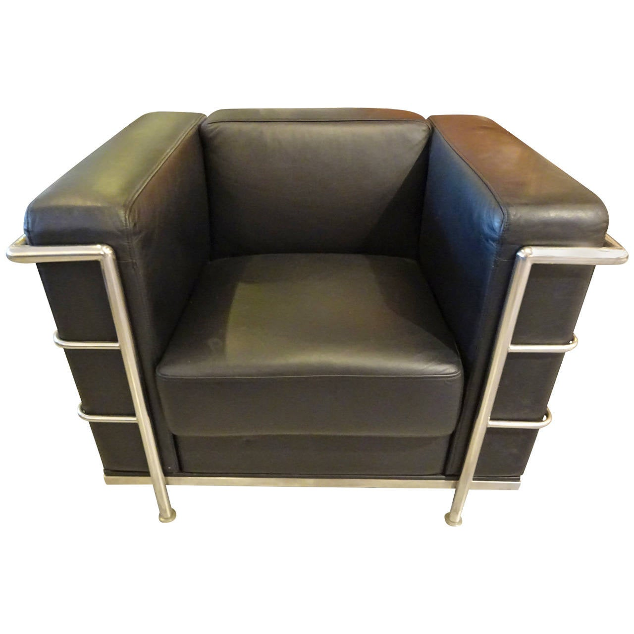 le corbusier style lounge chair at 1stdibs. Black Bedroom Furniture Sets. Home Design Ideas