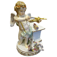 Large Meissen Figure of Cupid with Bow