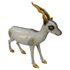 Large Chinese Cloisonné Figure of an Antelope
