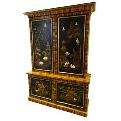 Sister Parish Chinoisere Decorated Cabinet