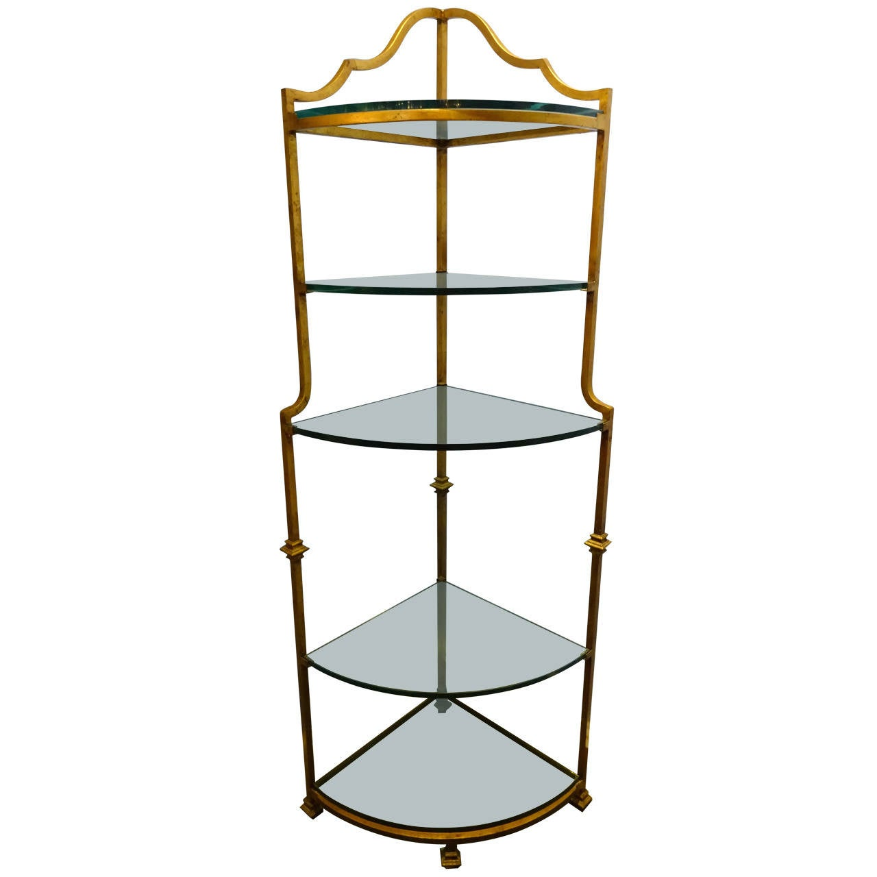 gilt metal corner etagere at 1stdibs. Black Bedroom Furniture Sets. Home Design Ideas