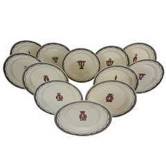 12 Cherinto Del Vecchio Italian Creamware Plates