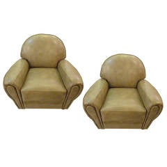 Art Deco Club Chairs At 1stdibs